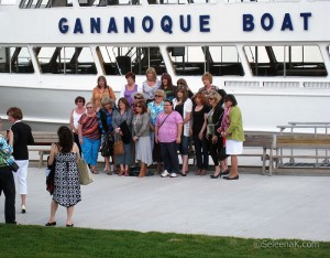 early arrivals group photo after the boat ride